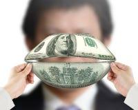 O dinheiro fala o conceito Foto de Stock