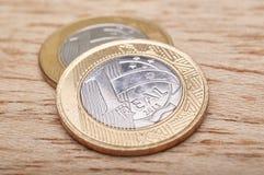 O dinheiro inventa o brasileiro Fotos de Stock