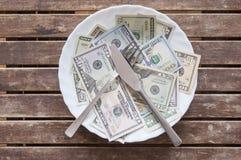 O dinheiro não pode ser comido Foto de Stock Royalty Free