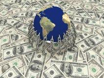 O dinheiro no mundo fotos de stock royalty free