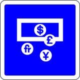 O dinheiro permitiu o sinal ilustração stock