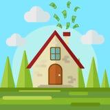 O dinheiro vai dirigir o vetor liso do estilo ilustração do vetor