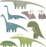 O dinossauro ajustou 1 Fotografia de Stock Royalty Free