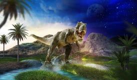 O dinossauro 3D rende ilustração royalty free
