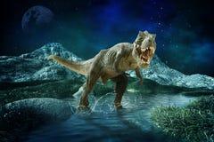 O dinossauro 3D rende ilustração do vetor
