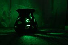 O diodo emissor de luz de saída claro colorido ilumina-se na noite da obscuridade do passo Foto de Stock Royalty Free