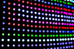 O diodo emissor de luz obscuro do DJ ilumina o painel Fotografia de Stock Royalty Free