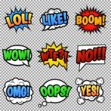 O discurso borbulha coleção das etiquetas Imagens de Stock