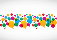 O discurso colorido borbulha conceito social dos media Fotografia de Stock