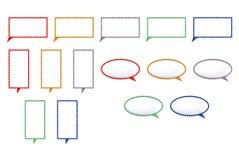 O discurso coloriu a marca dada forma bolhas Fotografia de Stock Royalty Free