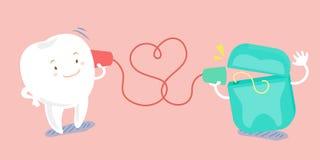 O discurso do dente dos desenhos animados pode telefonar Foto de Stock