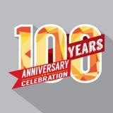 100o diseño de la celebración del aniversario de los años Fotografía de archivo libre de regalías