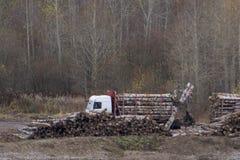 O dispositivo apontando transfere o portador da madeira fotos de stock
