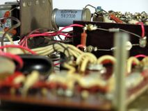 O dispositivo electrónico velho Foto de Stock