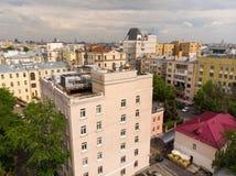 O distrito administrativo de Tverskoy de Moscou, R?ssia imagens de stock
