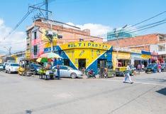 O distrito de Medellin chamou o distrito triste Foto de Stock