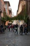 O distrito de Trastevere no centro histórico de Roma Fotografia de Stock Royalty Free