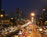 O distrito financeiro central do Pequim imagem de stock