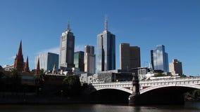 O distrito financeiro central em Melbourne disparou de Southbank vídeos de arquivo