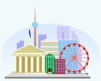 O distrito financeiro da cidade europeia Fotografia de Stock Royalty Free