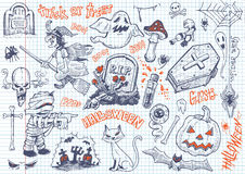 O divertimento de Dia das Bruxas rabisca #2 Fotografia de Stock Royalty Free
