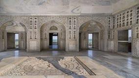 O Diwan-i-Khas ou o Salão da audiência privada, forte de Agra, Agra, Uttar Pradesh, Índia fotos de stock