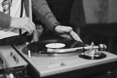 O DJ conduz botões Fotografia de Stock Royalty Free