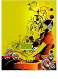 O DJ mistura Fotos de Stock Royalty Free