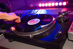 O DJ mistura fotos de stock