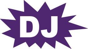 O DJ no discurso borbulha explosão ilustração do vetor