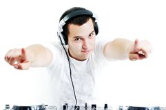 O DJ party Imagens de Stock Royalty Free