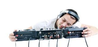 O DJ party Fotografia de Stock