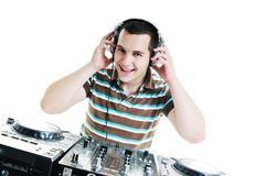 O DJ party Fotos de Stock Royalty Free