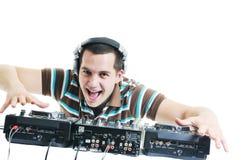O DJ party Foto de Stock Royalty Free