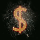 O dólar canta Imagem de Stock Royalty Free