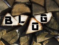 O ` do blogue do ` da inscrição Imagem de Stock