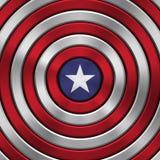 4o do crachá do Dia da Independência de julho Fotografia de Stock Royalty Free
