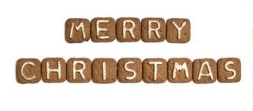 O ` do Feliz Natal do ` da inscrição Fotografia de Stock Royalty Free