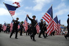 4o do Huntington Beach CA EUA da parada de julho Foto de Stock