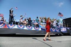 4o do Huntington Beach CA EUA da parada de julho Imagens de Stock