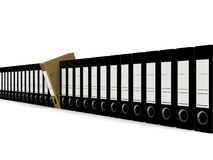 O dobrador para os originais 3d rende Fotografia de Stock