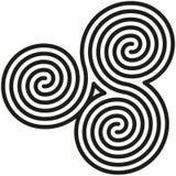 O dobro celta espirala labirinto ilustração stock