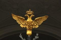 O dobro dirigiu a águia foto de stock royalty free