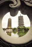 O dobro eleva-se porcelana de Guilin Foto de Stock