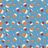 O doce com framboesas e abricós Fundo sem emenda do teste padrão Imagem de Stock Royalty Free