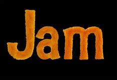 O doce da palavra das letras isoladas no fundo preto Foto de Stock Royalty Free