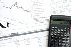 O documento do escritório gosta da renda e dos impostos Imagens de Stock