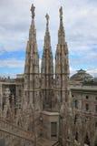O domo, catedral de Milão fotografia de stock royalty free
