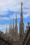 O domo, catedral de Milão Fotografia de Stock