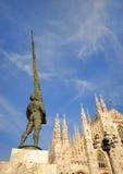 O domo de Milão, Italy imagem de stock